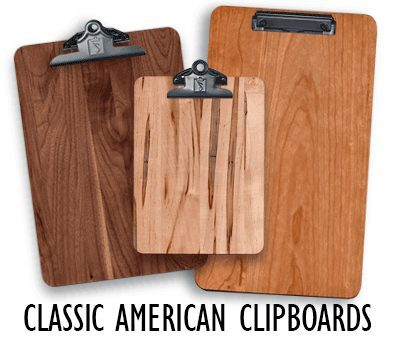 Handcrafted Classic American Clipboards - Winwood Designs
