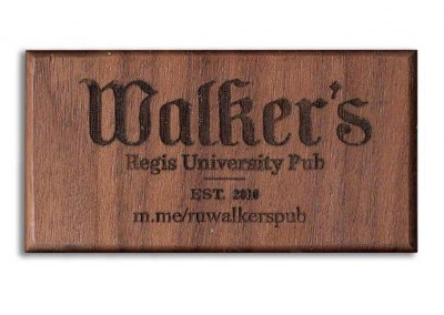 Walnut Custom Engraved Hardwood Business Card Refrigerator Magnets