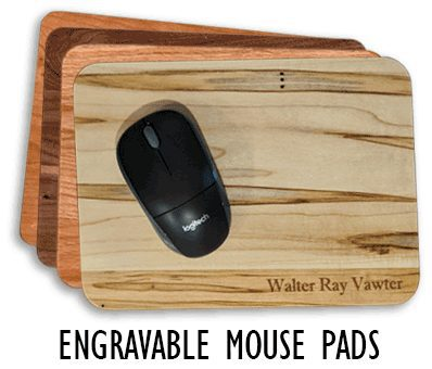 Personalized Wooden Mouse Pads - WinWood Designs