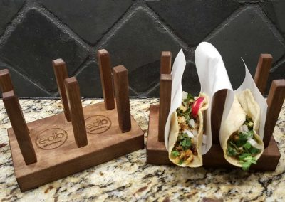 Personalized Wooden Taco trays