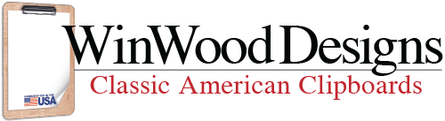 Welcome to WinWood Designs - Finely Crafted Classic American Clipboards