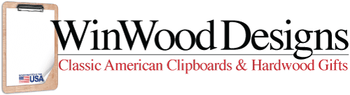 WinwoodDesigns - American Hardwood Clipboards and Gifts